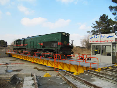 250 tons Locomotive Turntable- Mashhad Railway Station